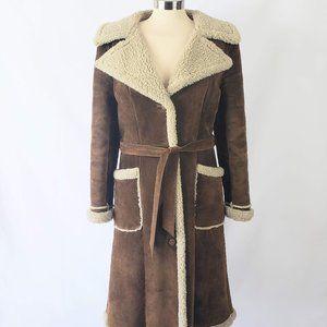 Wilson Maxima Brown Leather (suede) Coat